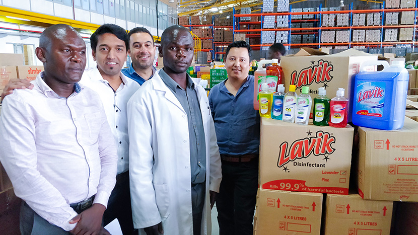 Launching sanitizers and hand washes to fight COVID-19 in kenya